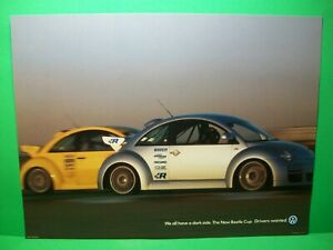 """2000 Volkswagen~Drivers Wanted~New Beetle Cup """"We All Have A Dark Side"""" Poster"""