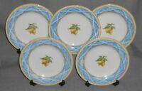 Set (5) 1997 Royal Doulton LEMON TRELLIS PATTERN Salad Plates