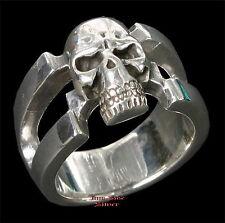 Gothic Skull TOTENKOPFRING Skullring Totenkopf Jolly Rogers Silber 925