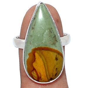 Landscape Jasper 925 Sterling Silver Ring Jewelry s.9 BR104790