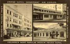 1940 ORLANDO FL Empire Hotel Views Air Cooled Cafeteria LL Cook postcard