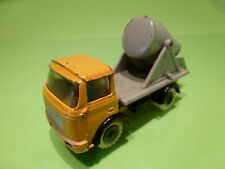 FJ FRANCE JOUET  BERLIET GAK - TRUCK CONCRETE MIXER - YELLOW GREY 1:55 - GOOD