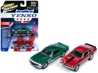 """1968 CAMARO & 1972 VEGA """"YENKO"""" 2 PC SET 1/64 BY JOHNNY LIGHTNING JLPK005-YENKO"""