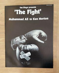 "VINTAGE 1973 MUHAMMAD ALI CASSIUS CLAY VS KEN NORTON ""THE FIGHT"" BOXING PROGRAM"
