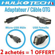 CABLE OTG ADAPTATEUR MICRO USB MALE / USB FEMELLE SAMSUNG GALAXY S4 MINI i9190