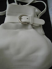 Classic Coach White Buckle Petitie Leather Shoulder Bag-NEW Never Used