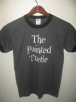 The Painted Turtle A Hole In The Wall Camp Dark Gray Ringer Logo T Shirt Small