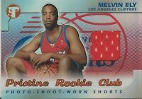 Melvin Ely 2002 Topps Pristine Worn Shorts Rookie Card RC #1925 Clippers
