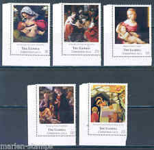 THE GAMBIA  2012 CHRISTMAS  SET OF FIVE   STAMPS MINT NH