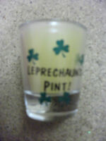 A pair of (2) A Leprechauns Pint Glass Candle IRELAND    NEW  St Patricks Day