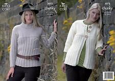 King Cole 3073 Knitting Pattern Womens Jacket and Sweater in Bamboo Cotton DK