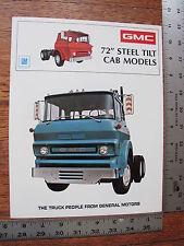 1973 73 GMC Steel Tilt 5500 6500 7500 9500 Commercial Truck Dealer Sale Brochure
