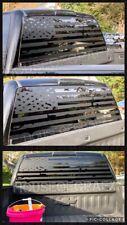 Distressed Ripped American Flag Window vinyl decal Fits SUV Silverado Dodge Ram