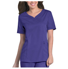 {XL} Urbane Ultimate Women's Sweetheart Neck Solid Scrub Top African Violet