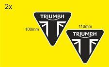 Triumph Motorcycles Sticker Decals 100mm x 110mm x2