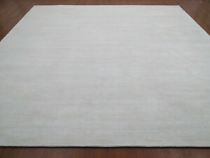 Hand Woven Knotted Soft Tencel Lyocell Silk Stain-proof Carpet Area Rug White