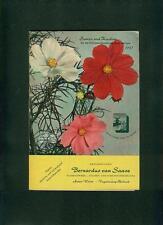 Blumen Frühjahrskatalog 1957 Samen und Knollen Bernardus von Saase Aalen Fotos