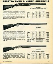 1976 Print Ad of Beretta Over & Under BL-3 BL-4 & BL-6 Shotgun
