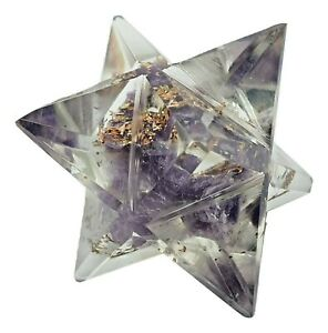 Orgone Amethyst Stone Merkaba Reiki Gemstone Spiritual Healing Sacred Geometry