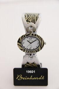 Damen Armbanduhr Beinhardt Acetat silberfarben Nr. 19601