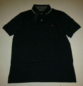 TOMMY HILFIGER Cotton Polo Shirt Red Blue Gray White S M L XL Free Shipping!!