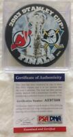 Jean Sebastian Giguere PSA Authenticated Hand Signed Puck Ducks 2003 Stanley Cup