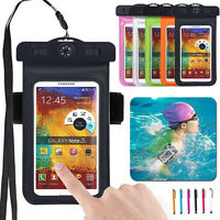 Waterproof Underwater Pouch Dry Bag Neck Armband Compass Case For Samsung Note 7