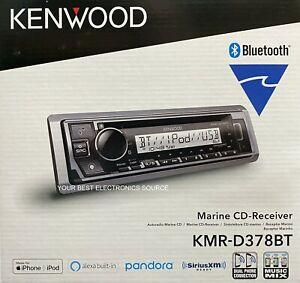 NEW Kenwood KMR-D378BT Marine Car Audio CD/AM/FM Receiver w/ Bluetooth
