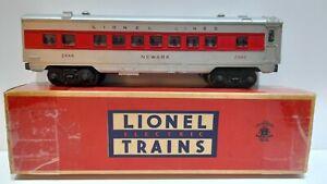 Lionel Vintage Postwar 2444 NEWARK Pullman Car Lighted Red Stripe