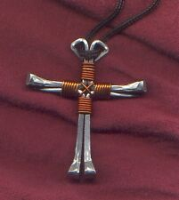 Aguppywear HORSESHOE NAIL CROSS necklace western cowboy