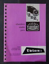 Catalogue tarif 1963 FLAUBEL chambre studio peco télos catalog Katalog