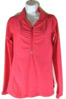 NEW BALANCE NBDRY WOMEN'S CORAL 1/4 ZIP LONG SLEEVE SHIRT, #WT73891-POH