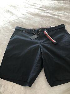 Mens Tommy Hilfiger Navy Shorts W36 NWT