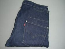 Homme Levi's Strauss & Co. ENGINEERED Twisted Bleu Foncé Denim Jeans W32 L34