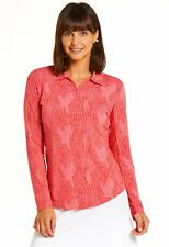 IBKUL Womens BTB Snake Print Long Sleeve Polo 41650- New 2020
