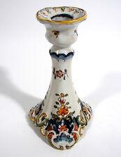 Kerzenleuchter Kerzenhalter Keramik Fayence Faience polychrom 19. Jhdt. Rouen
