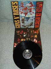 """Guns N 'Roses-appetite for Destruction - 12"""" vinyl album Geffen Records 1987"""