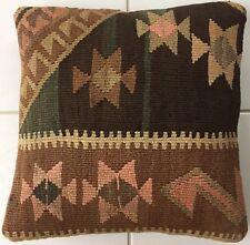 Alte Vintage Orientalisches Kelim Kissen old pillow Almohada Cushion Oreiller