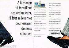 Publicité advertising 1990 (2 pages) Les Ordinateurs Compaq