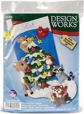 "Tobin Design Works Felt Stocking Applique Kit 18"" Long-Woodland Friends, DW5250"