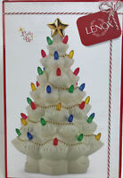"Lenox Lights Up Treasured Traditions Lighted Christmas Tree 11.5"" Porcelain"