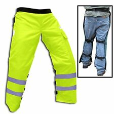 """Forester Chainsaw Safety Chaps with Pocket, Apron Style 35"""", Safety Green"""