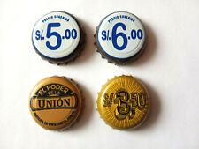 4 Bier-Kronkorken aus Peru: Trujillo + Golden