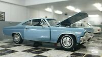 WELLY CHEVROLET IMPALA SS 396 1965 LIGHT BLUE 1/24 SCALE CAR DIECAST MODEL