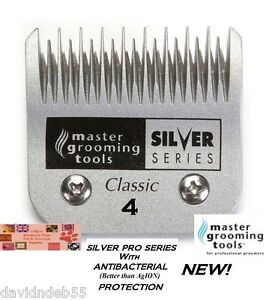 ANTIMICROBIAL A5 SILVER 4 SKIP BLADE*Fit Many Andis,Oster Pet Grooming Clipper