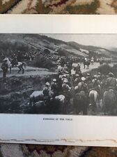R3 Ephemera 1918 Ww1 Book Plate Russian Cossacks Take The Field