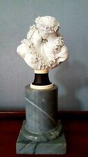 Edme Dumont école Française Buste En Biscuit De Sèvres socle en marbre