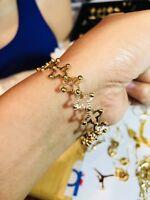 18K Saudi Gold 2 Way Ring & Bangle Bracelet Free size