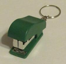 Mini Green STAPLER School Office for Paper KEY CHAIN Ring Keychain NEW