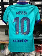 Nike Fc Barcelona Third Kid 2019/20  Green  #10 Lionel Messi LE  Size Small Only